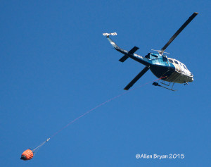 Helicopter servicing a fire in northwestern Montana