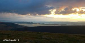 Sunrise in Highland County, Virginia