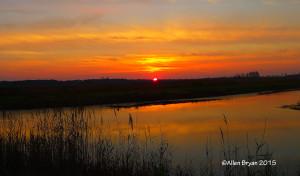 Sunrise at MacKay Island NWR