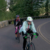 Biking Up Going to the Sun- Logan Pass Goal